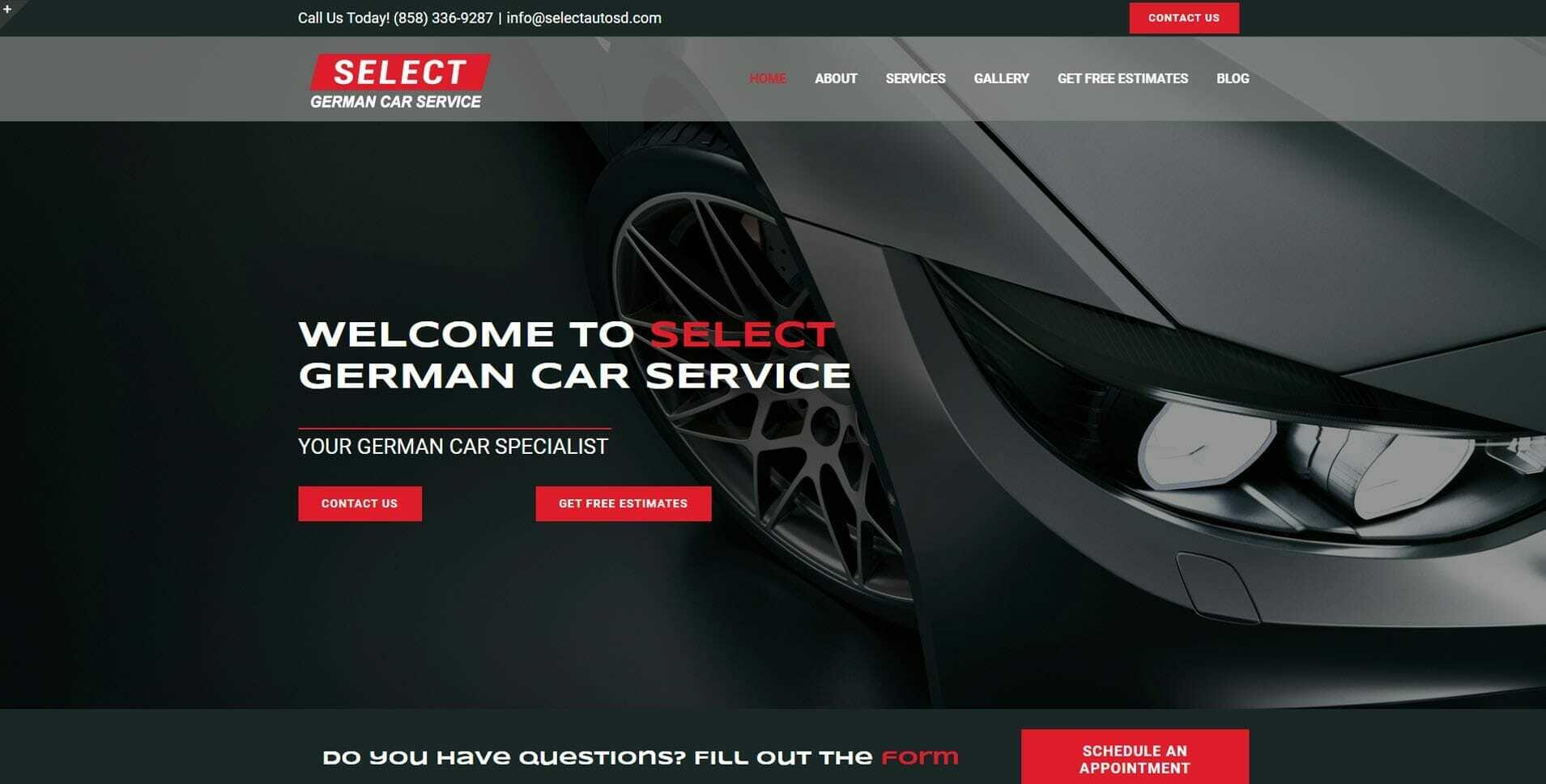 Select German Car Service Image